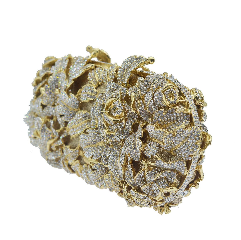 Mode luxe sacs de soirée en métal femmes strass pochette sacs à bandoulière Banquet fête pochette dames mariage mariée embrayages - 3