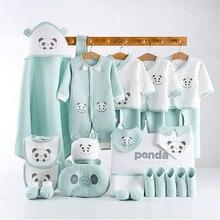 Baby Bebe Girl Boy Clothes Newborn Baby Clothing Set 100% Cotton Infant Underwear Suit For Four Seasons 18/23/25 Pcs
