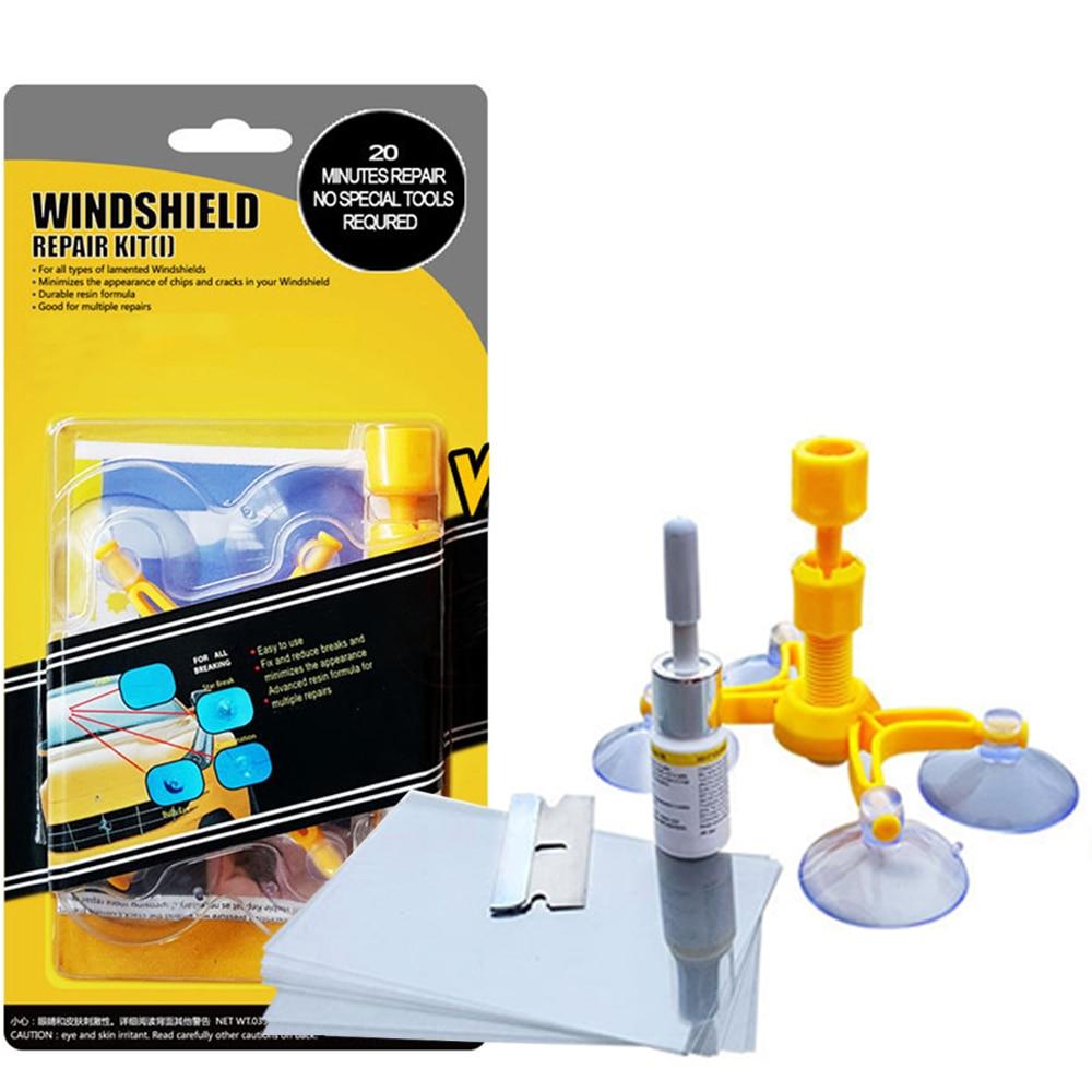 Набор для ремонта ветрового стекла, инструмент для удаления царапин и трещин на стекле и восстановления стекол