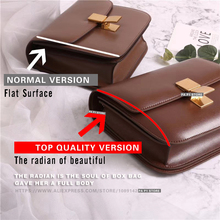 Women bag TOP quality BOX Genuine leather brand