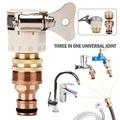 15 мм-23 мм Универсальный шланговый адаптер метеллический кран разъем шланг смесителя адаптер трубный фитинг для полива сада инструменты