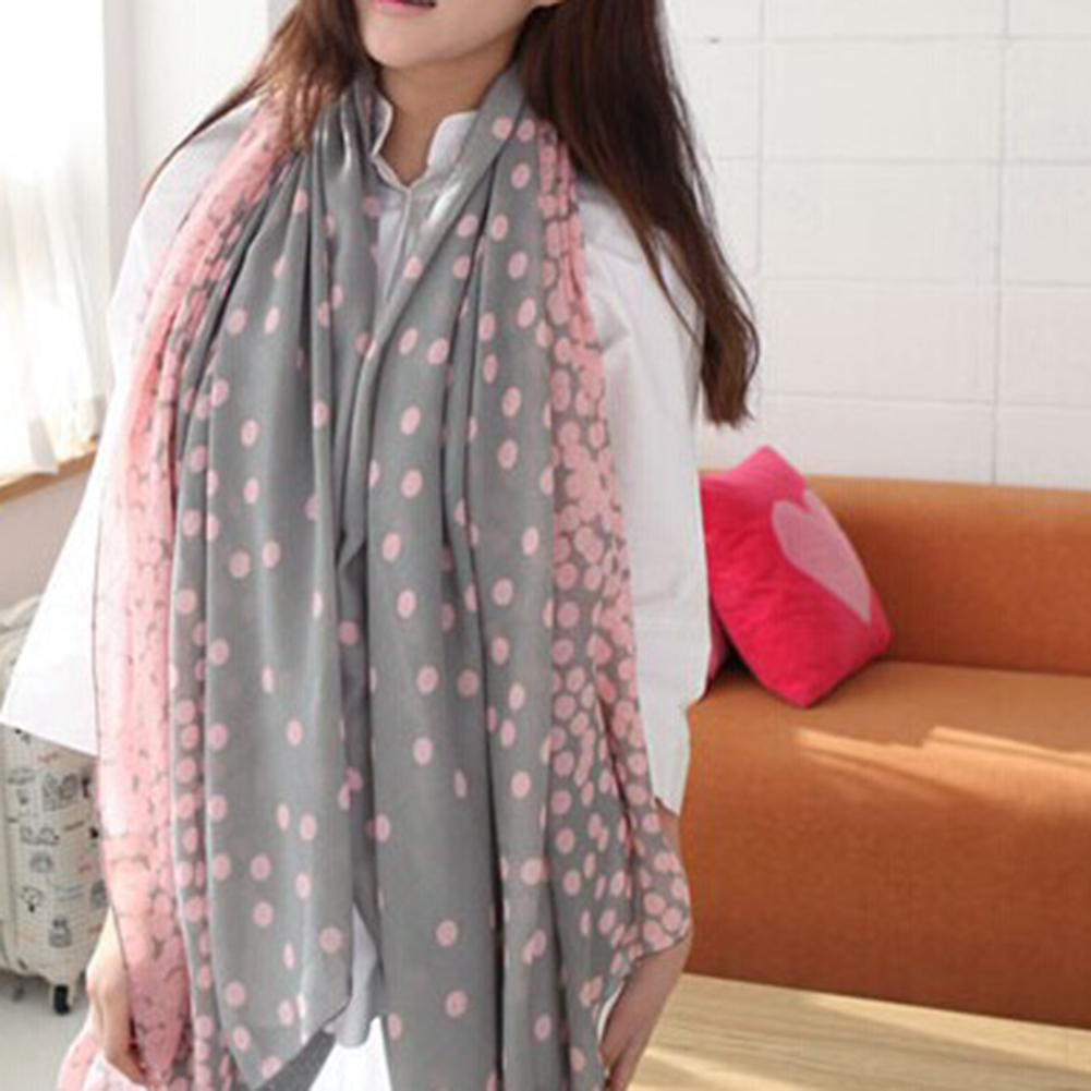 European Japanese Korean Autumn And Winter Female Shawl Bali Yarn Printed Cotton Super Long Scarf Scarf
