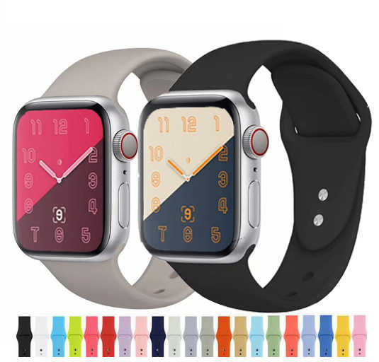 newest silicone Strap for iWatch 4 40mm 44mm Rubber Sport loop For Apple Watch Band Series 1/2/3 42mm 38mm link