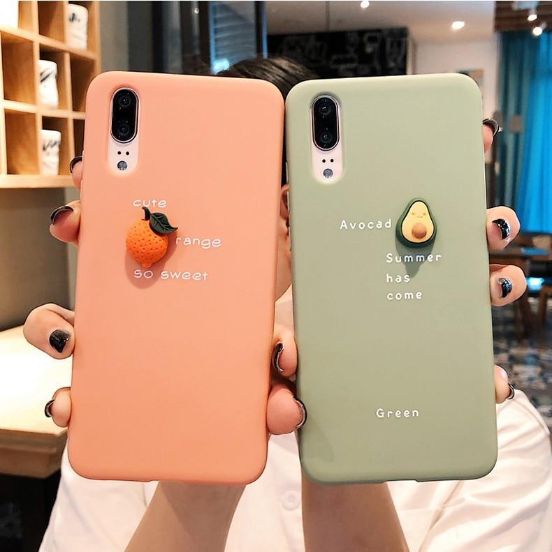 3D Avocado Soft Case For Huawei Honor 9X 10 8C 8X 8A 7X 10I 20I View P20 P30 Mate 20 30 Pro Lite Y9 Prime P Smart Plus 2019 Case