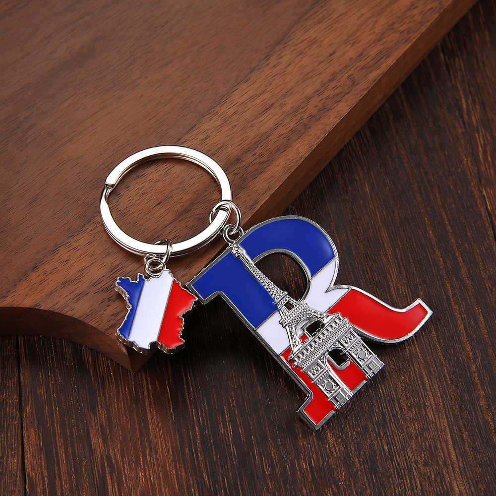 Vicney Carta Keychain Lembrança França Arco Do Triunfo de Alta qualidade Chaveiro ACE Carta Torre Eiffel Liga de Zinco Chaveiro Para Chave