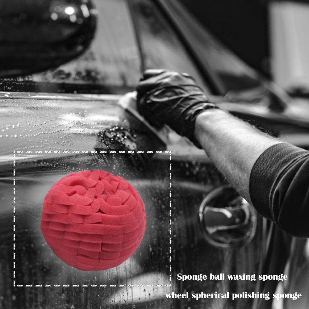 Round Sponge Car Polishing Sponge Ball Waxing Buffing Grinding Polisher Wheel Environmental Protection And Durability