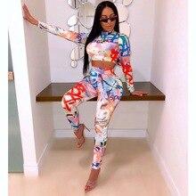 LOOZYKIT 2019 New Fashion Women Autumn Sport Pencil Casual Printed Sets Set Full  Sleeve Long Pants 2 Piece