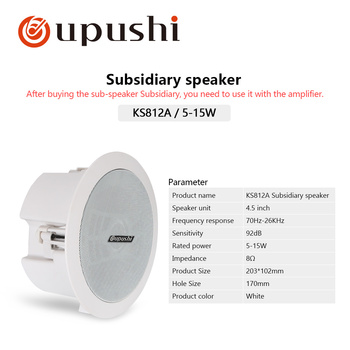 "4.5"" Portable bluetooth speaker 10w in ceiling speaker 8ohm audio stereo in wall mount loudspeaker for home surround system - Passive"