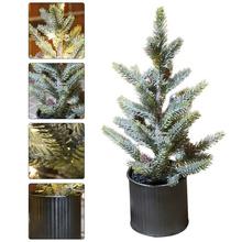 1PC Luminous choinka symulowane choinka Mini gniazdo USB dekor w kształcie drzewa (zielony) tanie tanio CN (pochodzenie) Small Christmas Tree Christmas Tree Decoration Desktop Small Tree Delicate Xmas Tree Xmas Tree Ornament