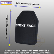 Ballistic Bulletproof Plate NIJ level 3+ NIJ 0101.07 RF1 SAPI Sized 1 PC Ultra Light PE Panel Against M80&AK47&M193  Militech