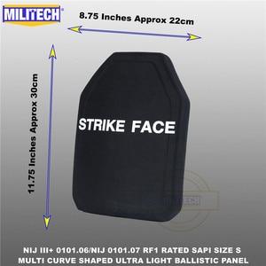 Image 1 - בליסטי פלייט Bulletproof NIJ רמת 3 + NIJ 0101.07 RF1 SAPI בגודל 1 PC קל במיוחד PE פנל נגד M80 & AK47 & M193 Militech