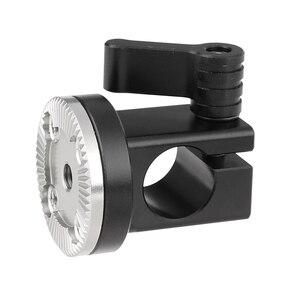 Kayulin новый дизайн 15 мм однорельсовый стержень зажим с M6 ARRI стиль Розетка крепление для DSLR камеры клетка рукоятка