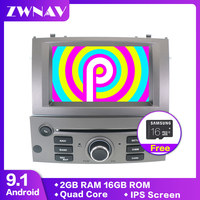 Android 9.1 Car DVD Player GPS Glonass Navigation unit for Peugeot 407 2004 2010 BT Multimedia audio Stereos Radio type recorder