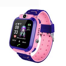 Q12B Waterproof Smart Watch Kids GPS Positioning Locating SOS Call Children Smartwatch With Camera For Android IOS Drop Shipping