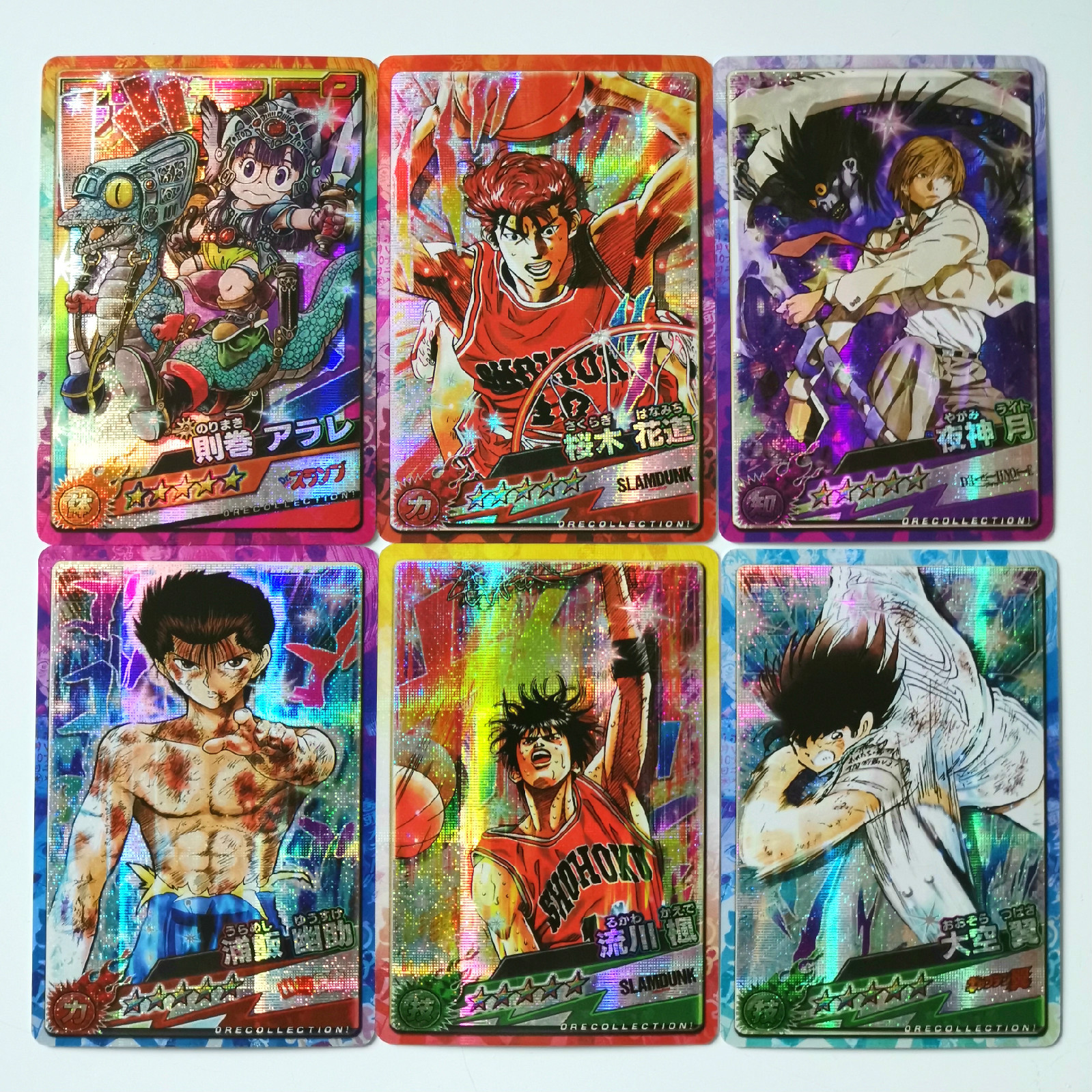 55pcs/set Jump Force 50th SLAM DUNK YuYu Hakusho Arale Anniversary Toys Hobbies Hobby Collectibles Game Collection Cards