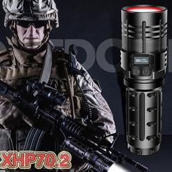 Tactical Torch Led Flashlight xhp70.2 Powerful Rechargeable 18650 Hunting mini Military Flashlight USB Hand Lamp xhp50 Lanterna