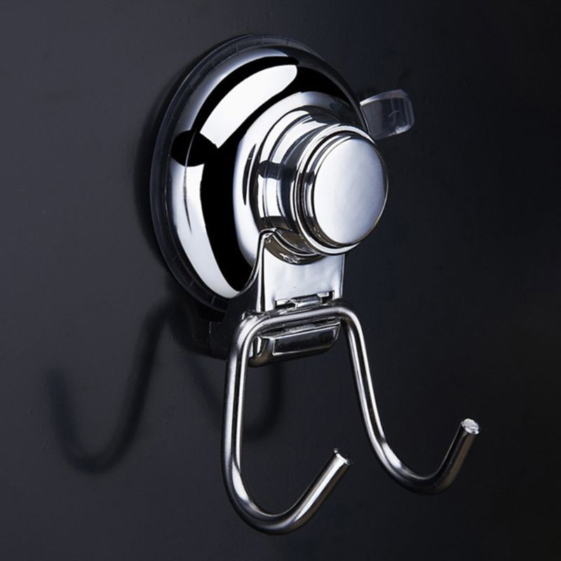 Vacuum Vacuum Suction Cup Hook Holder   2 PCS Super Powerful Button Type  Stainless steel  durable,waterproof  not viscose of|Bathroom Hooks| |  - title=