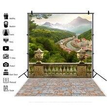 Сценические фоны laeacco для фотосъемки с изображением гор деревьев