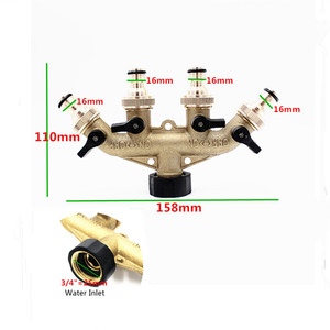Image 2 - 1PC 4 Way Brass Tap Adaptor Hose Valve Manifold Hose Splitter Tap Adaptors Hose End Fittings Four Channel Water Distributor