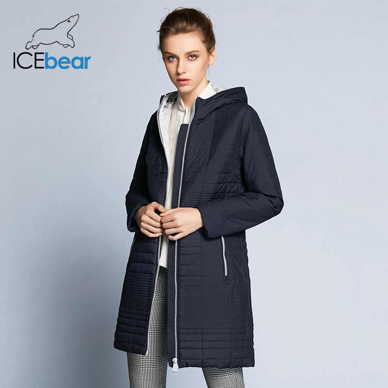 ICEbear 2019 Autumn Long Cotton  Women's Coats With Hood Fashion Women Padded Brand Autumn Jacket Parka B17G292D