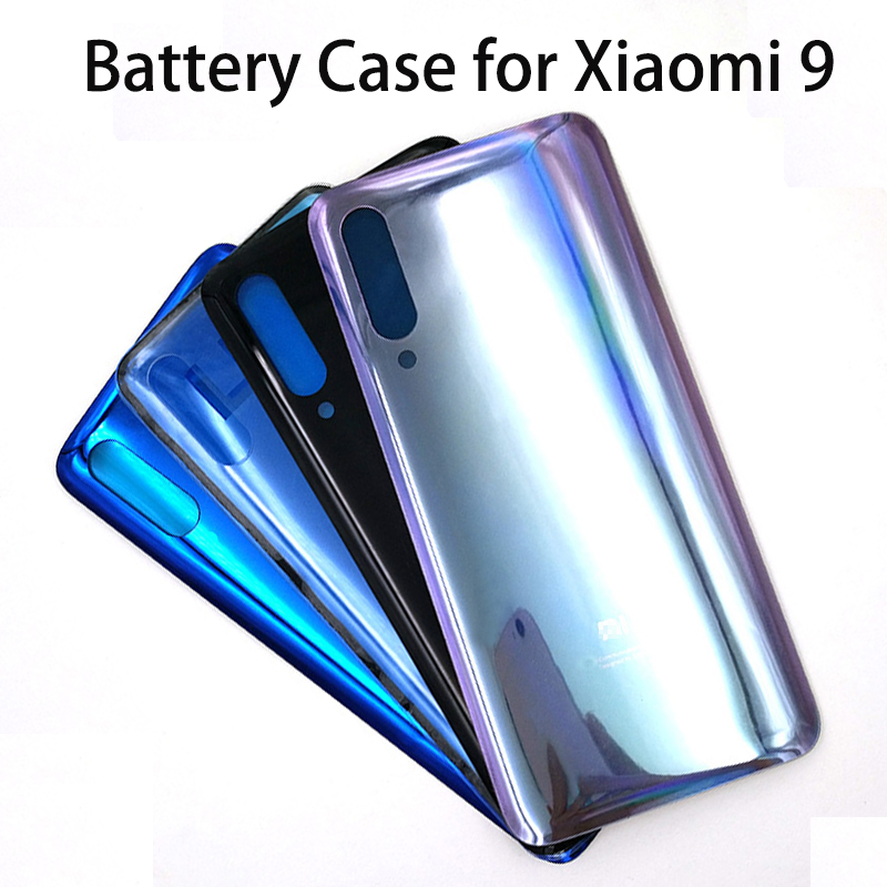 Original Back Door Housing Case Cover For Xiaomi 9 Mi9 Mi 9 Battery Cover Smooth Skin Replacement With Adhesive Sticker