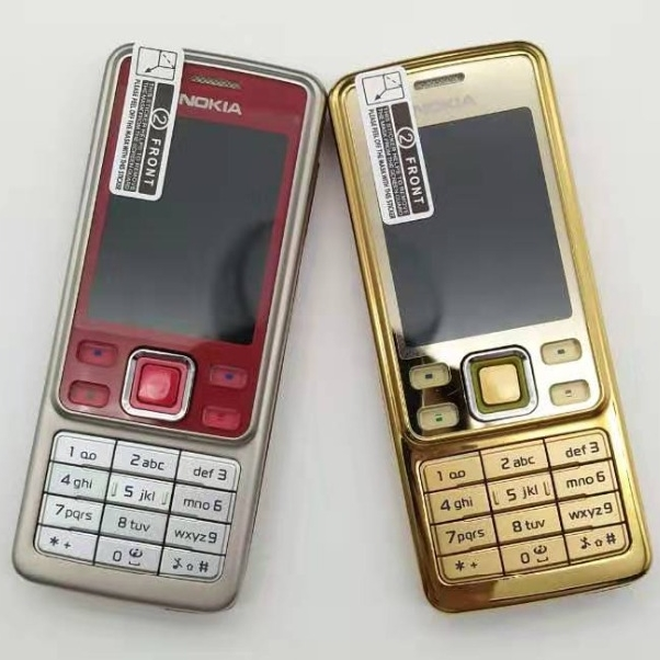 Original Nokia 6300 Mobile Phone Classic Cellphone 6300 Gold & One year warranty & Russian Keyboard Arabic Keyboard