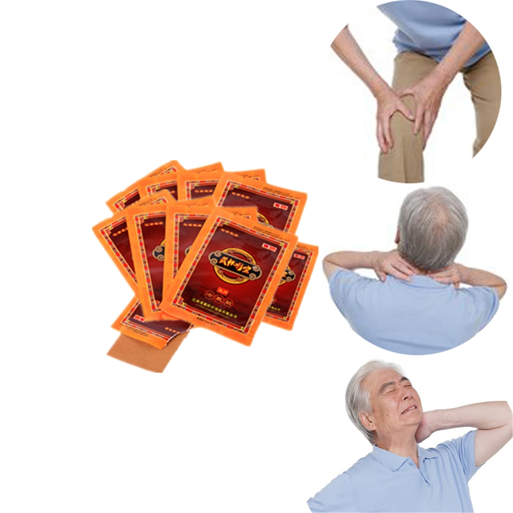 Hot Anti Allergic Joint Pain Velvet Antler Activating Collaterals Essential Oils Knee Plaster Active Medical Ointment 10 Packs