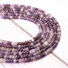 Amethyst Natural Agate Gem 4X6MM 5X8MM Abacus Bead Spacer Bead Wheel Bead Accessory For Jewelry Making Diy Bracelet Necklace
