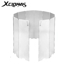 Outdoor Camping Screen Gas-Stove Cooking-Burner Wind-Shield Picnic Aluminum-Alloy Windproof