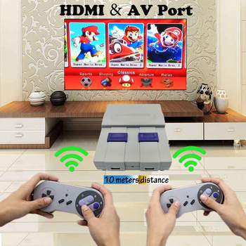 Mini 8 Bit Retro Mini Super Classic HDMI/AV TV Family Video Game Console with 333/500 Games for Handheld Game Players 2 Gamepads цена 2017