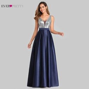 Image 4 - Yeni balo kıyafetleri uzun 2020 hiç güzel v yaka payetli A Line Vestido Formatura kadınlar seksi Backless kolsuz örgün parti kıyafeti