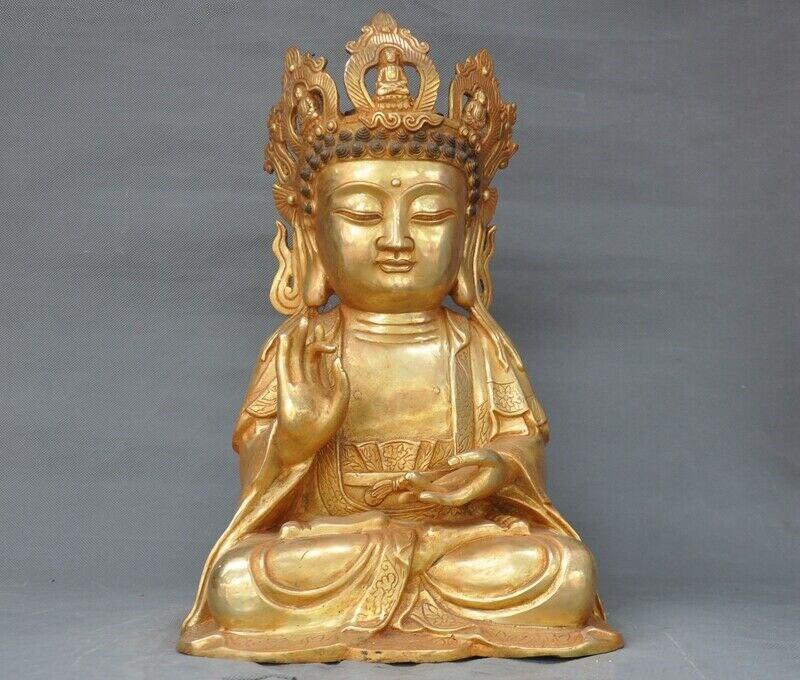 wedding decoration Tibet Fane bronze Gilt Maitreya Bodhisattva Jizo Ksitigarbha monk buddha statue