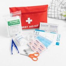 12 פריטים/27pcs Waterproof מיני חיצוני נסיעות ערכת העזרה ראשונה לרכב בית קטן רפואי תיבת חירום ערכת הישרדות ביתי
