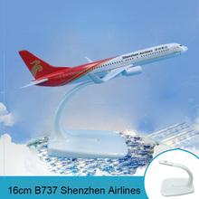 16cm Metall Flugzeug Modell B737 Shenzhen Airlines Luftfahrt Modell Shenzhen China Boeing 737 Flugzeug Fliegen Modell Kreative Geschenke cheap Prenoy CN (Herkunft) 1 400 Flugzeuge 3 Jahre alt Unisex