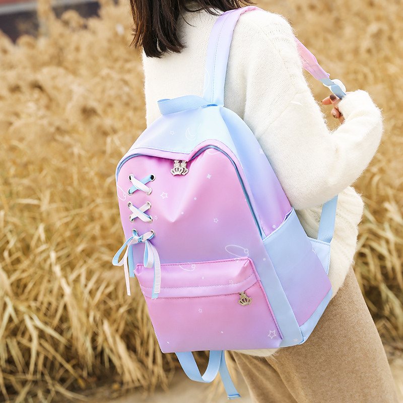 2020 Fashion Lady Backpack Women Bags Quality Oxford Colorful Gradient Female Backbag For Teenager Girl School Book Bag Mochila