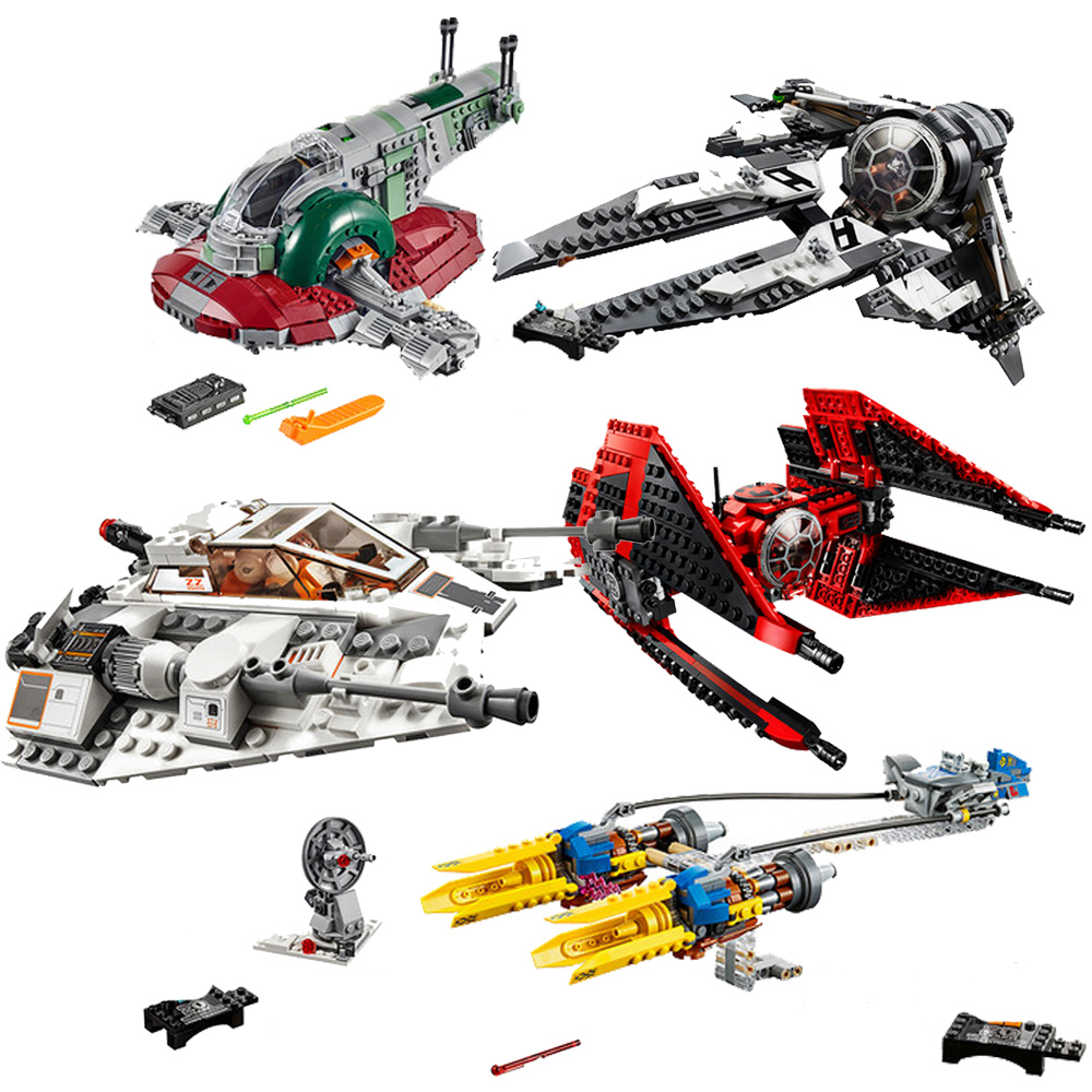 2019 New Building Block 05156 05157 TIE Fighter Slave Lepining Star Wars 75243 75259 Bricks Toys For Birthday Gift
