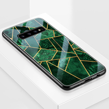 ciciber Fashion Marble For Samsung Galaxy S10 S10e S9 S8 Plus S10+ S9+ S8+ Tempered Glass Phone Cases for Note 9 8 Cover