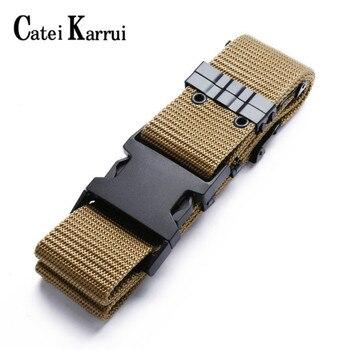 tactical Catei Karrui Nylon Tactical Belt Quick Release Heavy Duty Tactical Belt for Men-Tactical Belt for Cargo Pants
