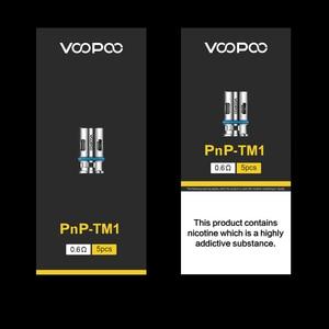 Image 4 - VOOPOO PnP TM1 لفائف 0.6ohm المقاومة نصف DL شبكة لفائف 20 25 واط ل VOOPOO أرجوس الهواء برو X السحب X S ماكس فينشي X 2 جراب السجائر الإلكترونية