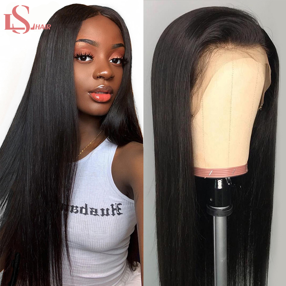 LS Straight Hair Lace Front Human Hair Wigs For Women Pre Plucked Brazilian 360 Lace Frontal Wigs 150 180 13*4 /13x6 Remy Wigs