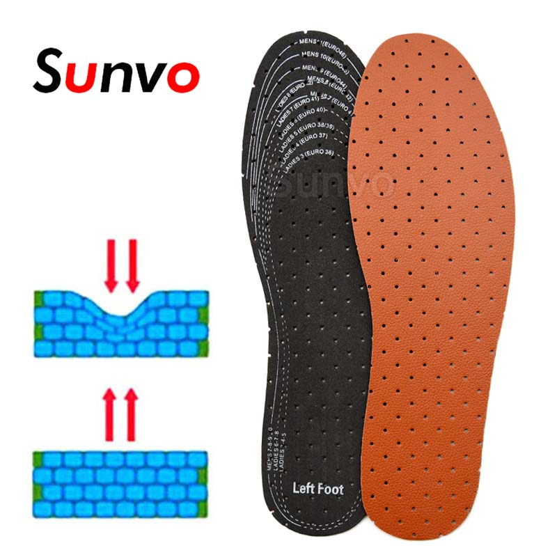 EVA Leather Insoles For Men Women Soft Breathable Deodorant Absorb Sweat Inner Shoes Insole Pad Inserts Replacement Sole