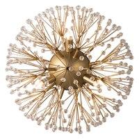 Современный хрустальный, Круглый настенный светильник золотой Настенный бра свет фейерверк роскошный настенный светильник винтажный свет