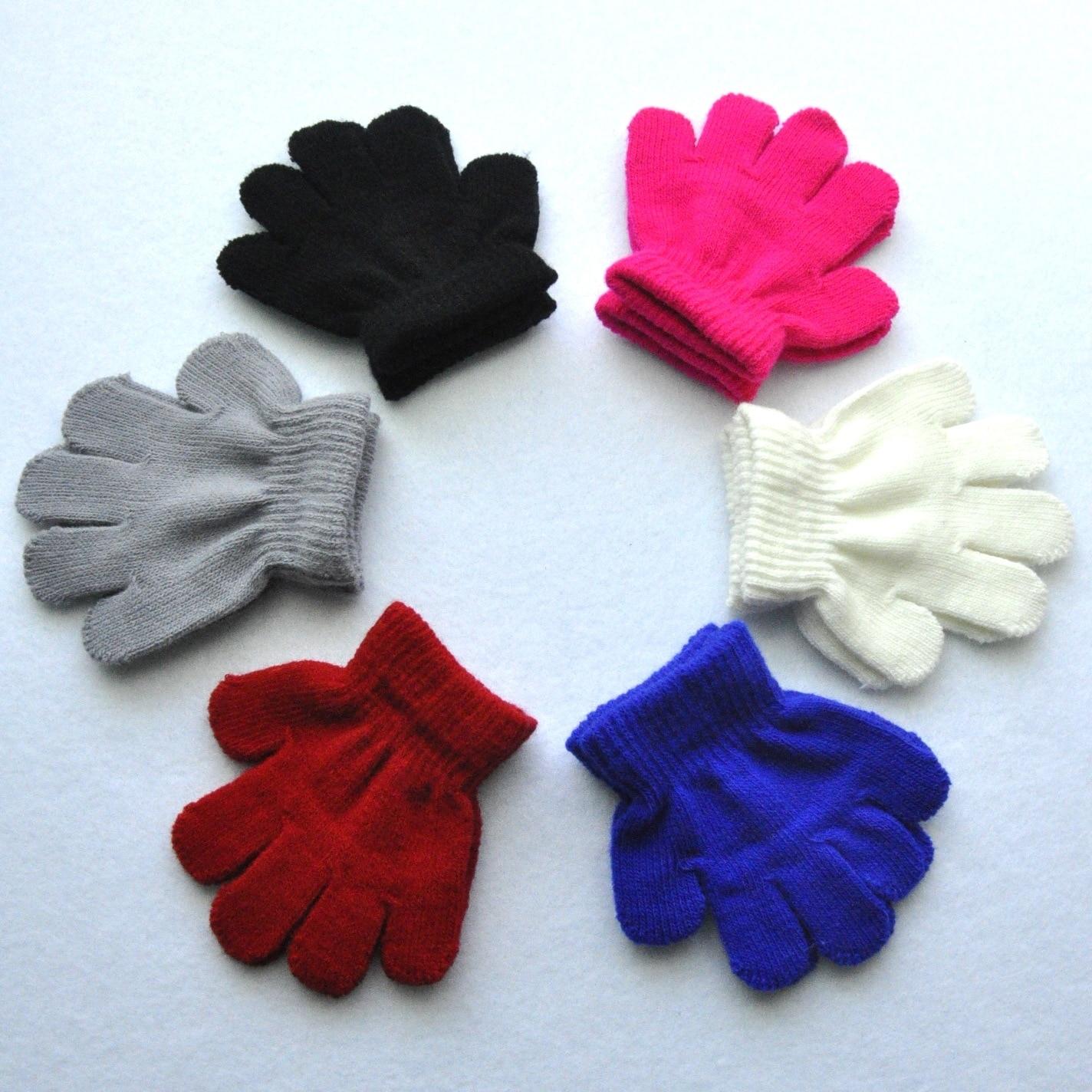 Детские зимние теплые перчатки на возраст 1-3 года, вязаные акриловые перчатки для маленьких девочек и мальчиков и малышей KF198