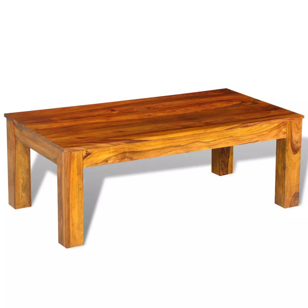VidaXL Coffee Table Solid Sheesham Wood 110x60x40 Cm