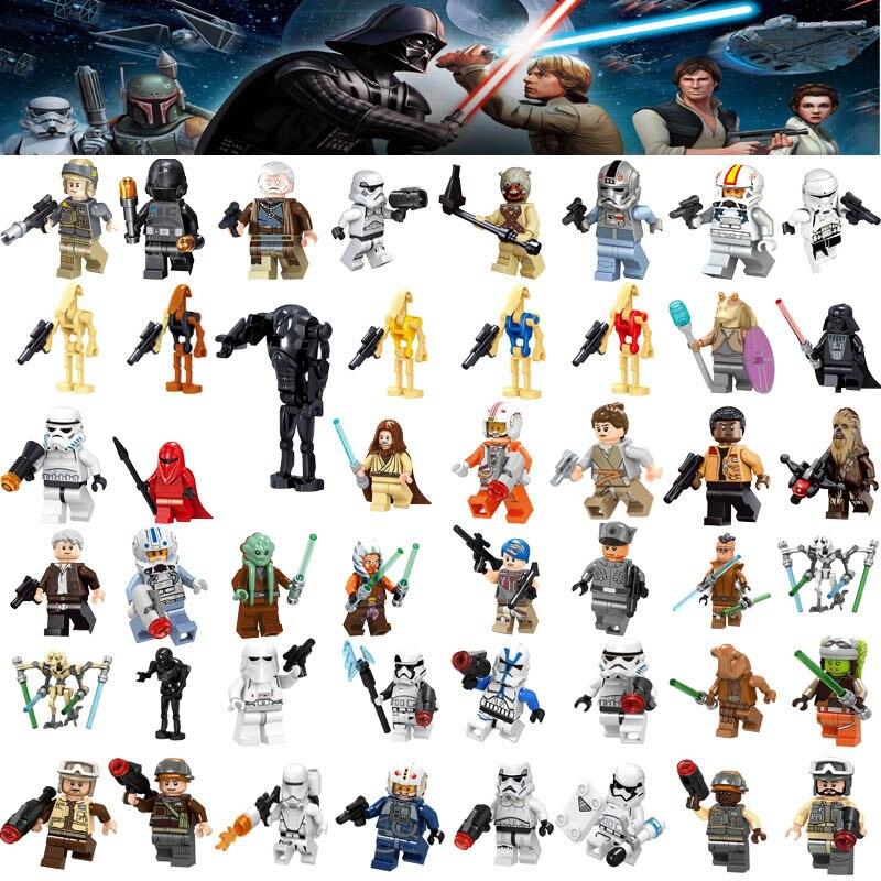 Single Sale Star Wars Building Block Han Solo Luke Darth Vader Yoda Leia Toys Compatible Starwars  Figures