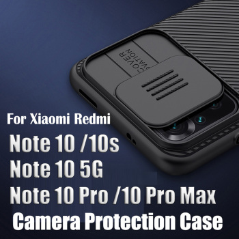 For Xiaomi Redmi Note 10/Note 10 Pro Max 10s Case NILLKIN Camshield Camera Case For Redmi Note 10 5G High Quality Back Cover 1