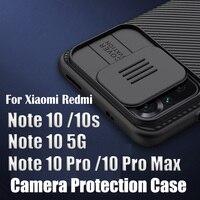 Para Xiaomi Redmi Note 10/Note 10 Pro Max 10s caso NILLKIN Camshield caja de la cámara para Redmi Note 10 5G de alta calidad de la cubierta