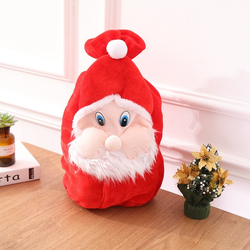 2019 Christmas Gift Bag Cute Santa Claus Drawstring Bags Cartoon Candy Storage Christmas Decoration Bag