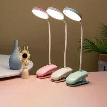 Светодиодсветодиодный Настольная лампа с зажимом, Гибкая Настольная лампа с сенсорным управлением и плавным затемнением, USB-зарядка, свети...