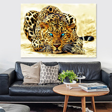Golden Leopard Wall Art Canvas Painting Modern Cheetah Animals Posters And Prints Wall Pictures For Living Room Decor No Frame modern abstract oil painting posters and prints wall art canvas painting colorful rhythm pictures for living room decor no frame